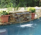 Sheer Descent Pool Fountain